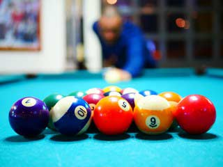 Pool table recovering material options in New Haven
