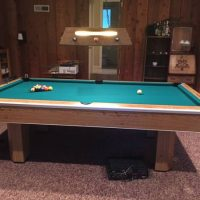 Brunswick Century Regulation 8' Pool Table With Accessories