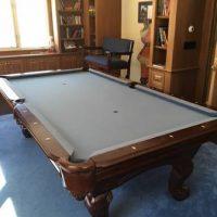 American Billiard Company Mahogany Pool Table Set
