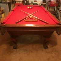 Highland Series Limited Edition Red Felt Pool Table