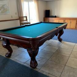 Beautiful carved wood pool table