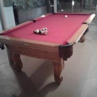 Pool Table Red Felt